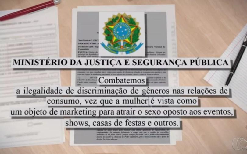 Isonomia de valores foi determinada pelo Ministério da Justiça (Foto: Reprodução/TV Anhanguera)