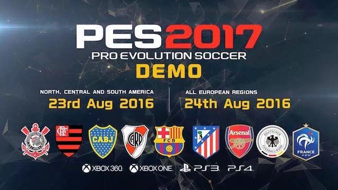 Com times brasileiros, demo de PES 2017 ganha data de lançamento (Foto: Divulgação/Konami)