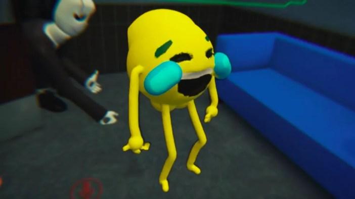 Um exemplo de skin de emoji no VRChat (Foto: Reprodução/YouTube)