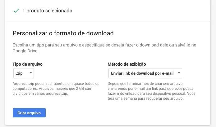 Criando arquivo de backup das mensagens do Gmail (Foto: Reprodução/Helito Bijora)
