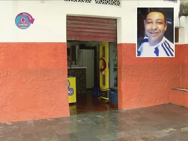 Vítima ainda tentou se esconder em bar de São Vicente, SP (Foto: G1)