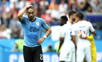 Cáceres disputou a Copa do Mundo pelo Uruguai — Foto: Patrick Smith - FIFA via Getty Images