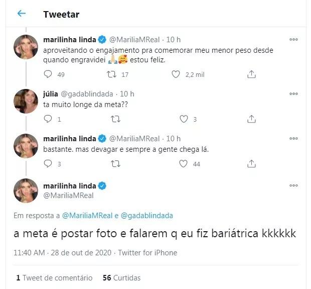 Marilia Mendonça fala sobre emagrecimento (Foto: Reprodução/Twitter)