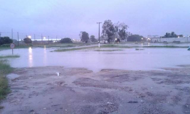 Chuva deixa áreas alagadas no presídio Baldomero Cavalcanti em Maceió (Foto: Divulgação/Sindaspen)