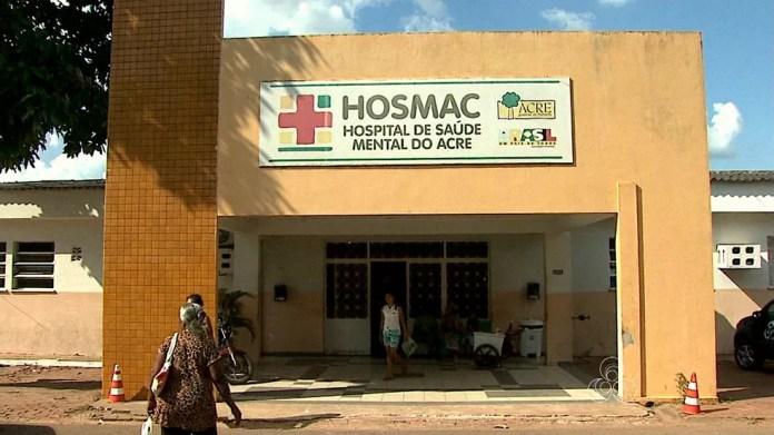 Policial deu entrada no Hosmac nesta sexta-feira (13) sem previsão de alta — Foto: Reprodução/Rede Amazônica Acre
