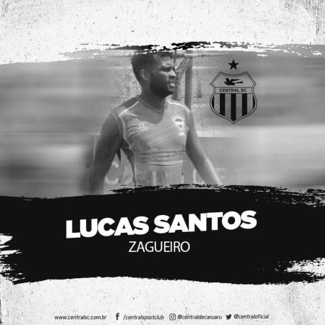 Lucas Santos é o novo zagueiro do Central — Foto: Divulgação