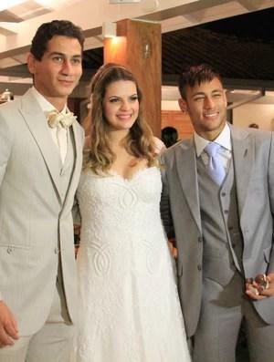Neymar Ganso casamento (Foto: Carlos Santos)