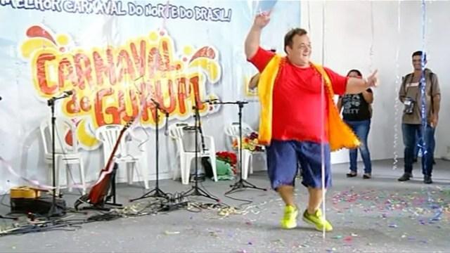 Wagner encantou pela simpatia e foi eleito Rei Momo do Carnaval de Gurupi (Foto: Reprodução/TV Anhanguera)