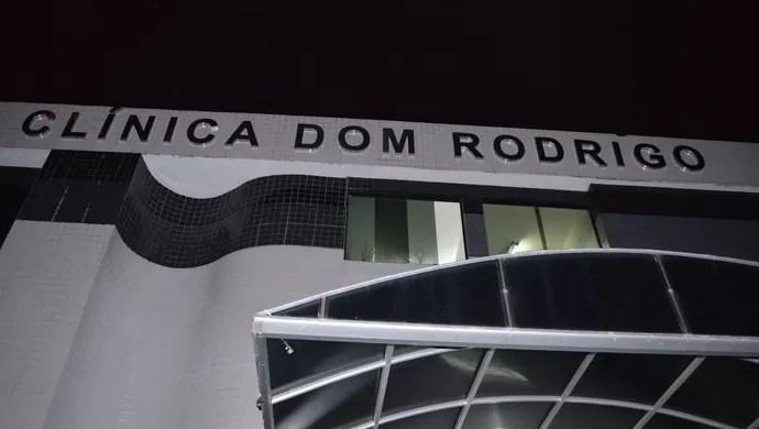 Fachada Dom Rodrigo, Hospital, Dorivaldo Pereira (Foto: Rammom Monte / GloboEsporte.com/pb)
