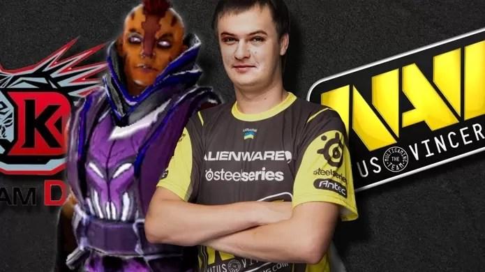 Integrante do Natus Vincere, Oleksandr XBOCT ajudou o time a derrubar o favoritismo dos chineses (Foto: game4v.com e vk.com)