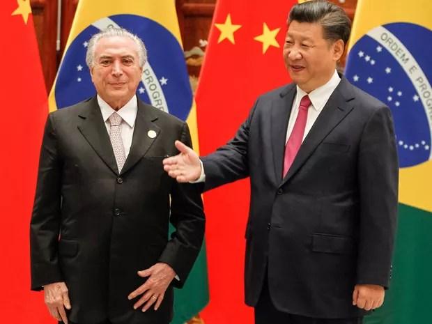 O presidente Michel Temer se reúne com o presidente chinês Xi Jinping em Xangai (Foto: Beto Barata / Presidência)