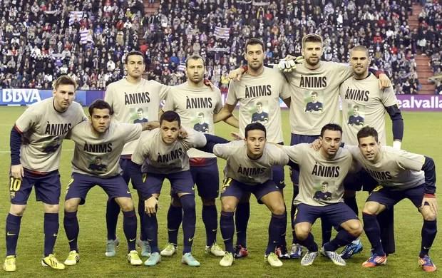 Camisa Tito Vilanova Barcelona (Foto: EFE)