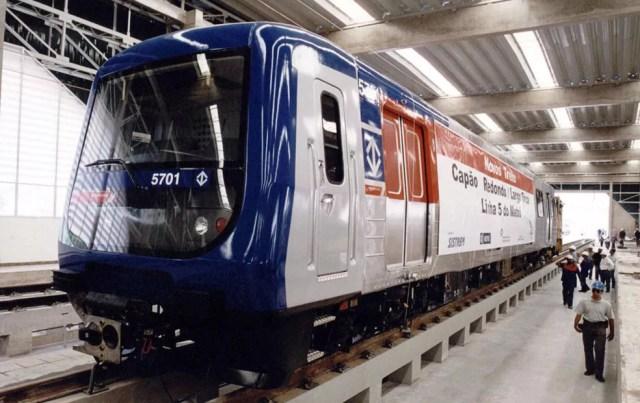 Primeiro trem da linha 5 Lilás (Foto: Metrô/ Divulgação)