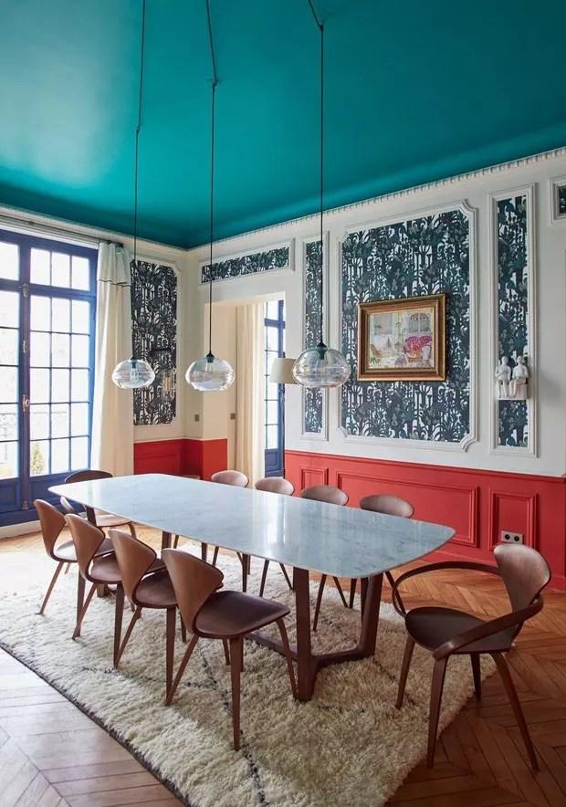 10 salas de jantar decoradas com vermelho  Casa Vogue