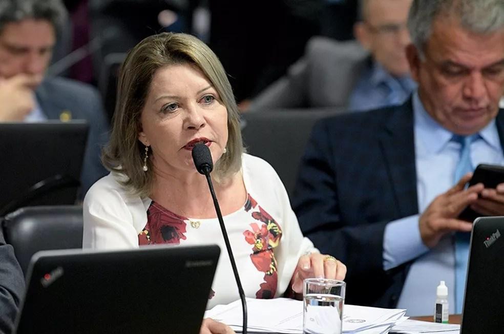 Selma Arruda teve o mandato cassado em dezembro — Foto: Pedro França/Agência Senado