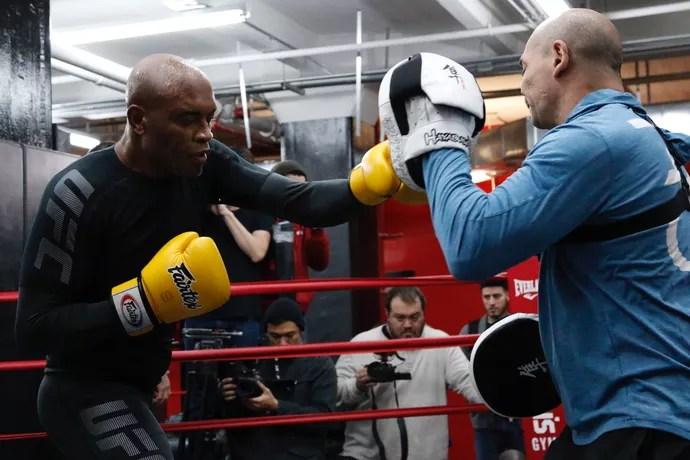 Anderson Silva Treino Aberto UFC 208 (Foto: Evelyn Rodrigues)