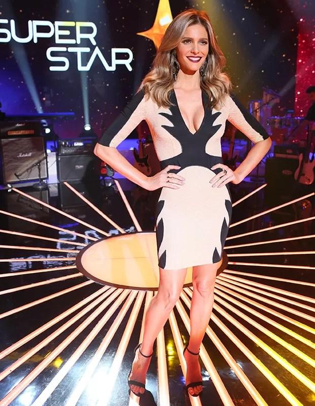 Look da Fernanda Lima para noite de repescagem no SuperStar (Foto: Isabella Pinheiro / Gshow)