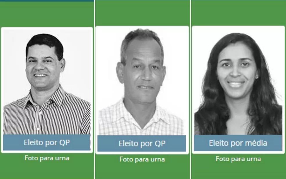 Vereadores Marcos Pires Ferreira Vaz (PDT), Selson José de Souza (PRB) e Lília Carneiro da Silva (PDT) tiveram mandatos cassados  (Foto: Arte G1/Reprodução/Divulgacand)