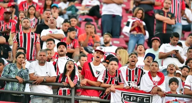 Torcida São Paulo X América-MG (Foto: Marcos Ribolli)