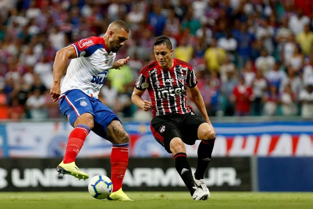 Arena Fonte Nova; Bahia x São Paulo; Fernandão — Foto: Felipe Oliveira/Divulgação/EC Bahia