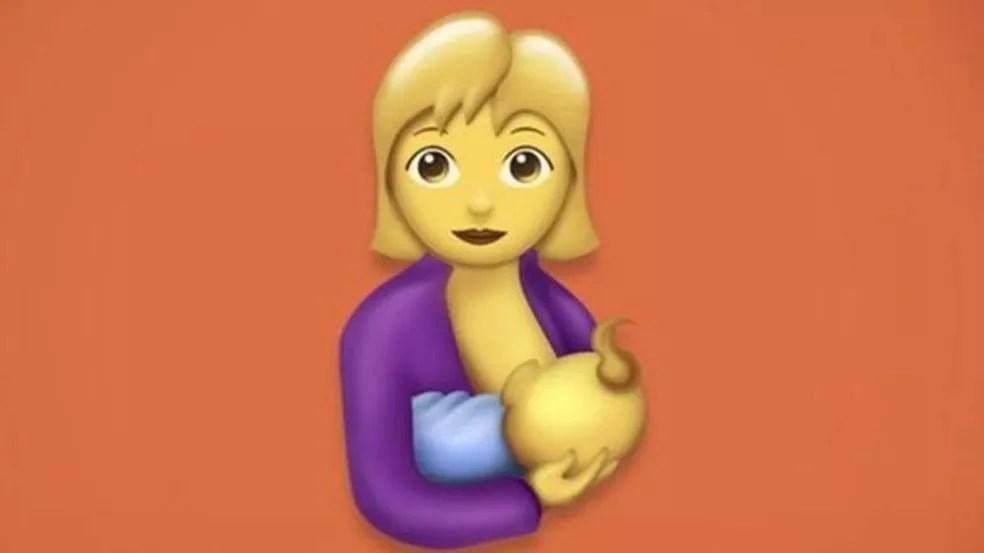 Mulher amamentando está entre os novos emojis divulgados pelo Consórcio Unicode (Foto: Reprodução/Emojipedia)