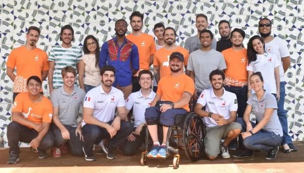 Equipe de pesquisadores do projeto EMA trike, da Universidade de Brasília — Foto: EMA Trike/Divulgação