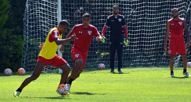 Reservas treino São Paulo (Foto: Erico Leonan / site oficial do São Paulo FC)