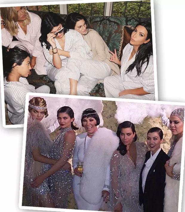 A família de Kendall Jenner inclui Kylie Jenner, Kris Jenner, Caitlyn Jenner, Kim Kardashian, Khloe Kardashian, Kourtney Kardashian, Rob Kardashian, Kanye West, North West, Saint West... (Foto: Instagram/Reprodução)