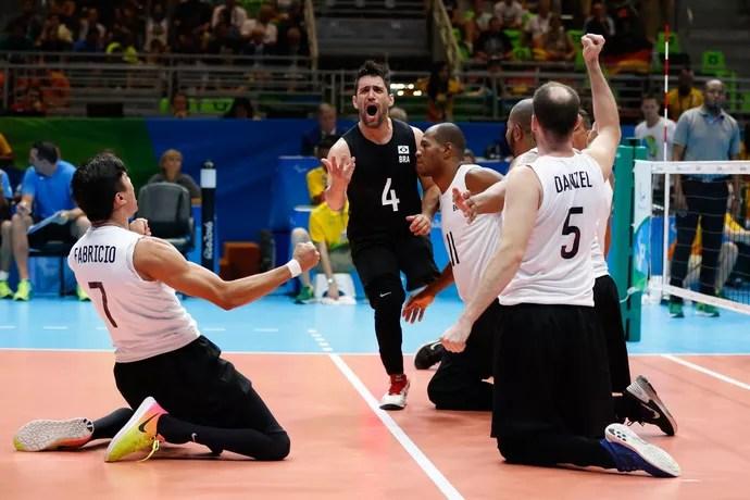 Brasil Alemanha vôlei sentado Paralimpíada Rio (Foto: Thiago Ribeiro/Framephoto/Estadão Conteúdo)