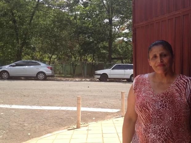 A missionária Elieide Ferreira, de 50 anos disse que não se sente segura no Parque Botafogo Goiás Goiânia (Foto: Vanessa Martins/G1)