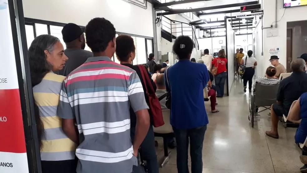 Paralisação prejudicou coleta de exames de sangue no homocentro do Hospital das Clínicas de Marília — Foto: Arquivo pessoal