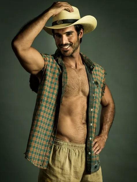 Anderson Tomazini caracterizado como Xodó (Foto: Globo/Raquel Cunha)