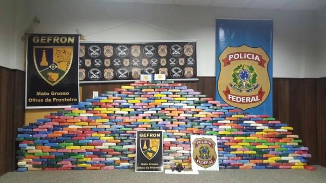 Operação apreendeu mais de 500 kg de cocaína Cáceres (Foto: Polícia Federal de Mato Grosso/Gefron-MT)