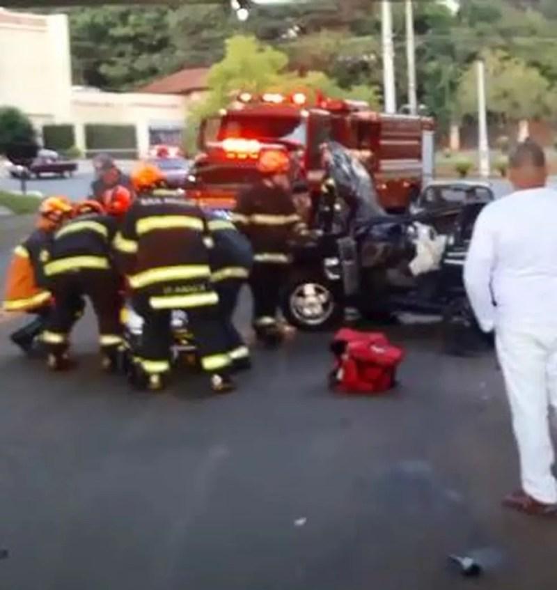 Acidente foi registrado na manhã desta terça-feira (9), em Rio Preto — Foto: Arquivo Pessoal