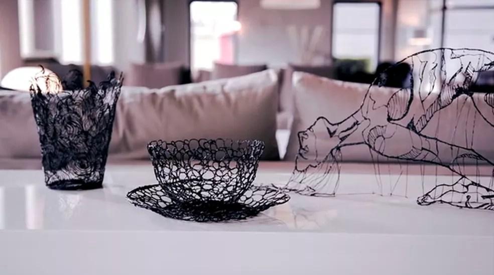 Objetos feitos com a caneta 3D Lix (Foto: Divulgação/Lix)