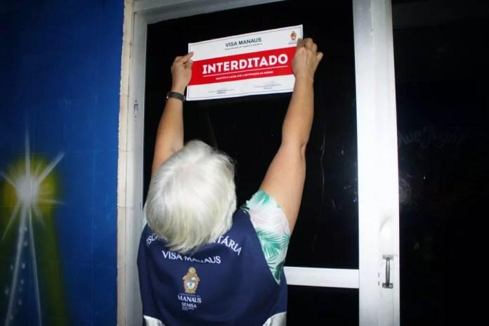 Quatro estabelecimentos foram interditados em Manaus nessa noite. — Foto: Divulgação/SSP-AM
