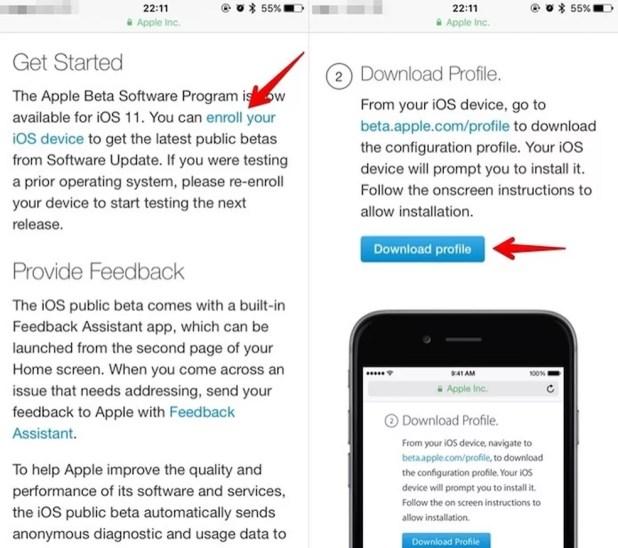 Instale o perfil de configuração no iOS (Foto: Reprodução/Helito Bijora)