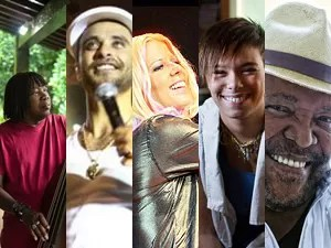 Milton Nascimento, Diogo Nogueira, Kid Abelha, Maria Gadu e Martinho da Vila estão entre as atrações dos shows em João Pessoa (Foto: Arte/G1)