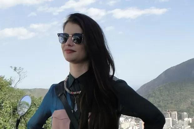 Aline ainda gravou para o Vídeo Show  (Foto: Fim do Mundo / TV Globo)