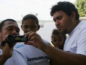 Moradores de comunidades de quilombos aprenderam técnicas de filmagem, no Amazonas (Foto: Divulgação/INPA)
