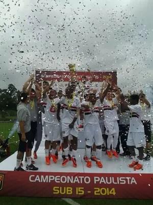 São Paulo conquista o título sub-15 do Campeonato Paulista (Foto: Gustavo Soler/FPF)