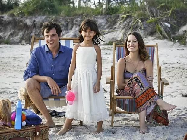 Família passa dia se divertindo (Foto: Raphael Dias / Gshow)