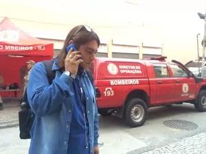 Funcionário lembra que rede de lojas foi atingida por incêndio há dois anos (Foto: Matheus Rodrigues/G1)