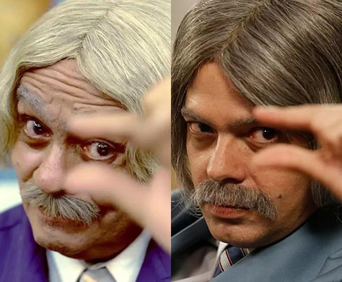 Pai e filho e um mesmo personagem; compare! (Foto: CEDOC/TV Globo e Raphael Dias/Gshow)