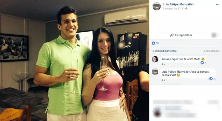 Luis Felipe e Tatiane estavam juntos havia cinco anos (Foto: Reprodução/Facebook)