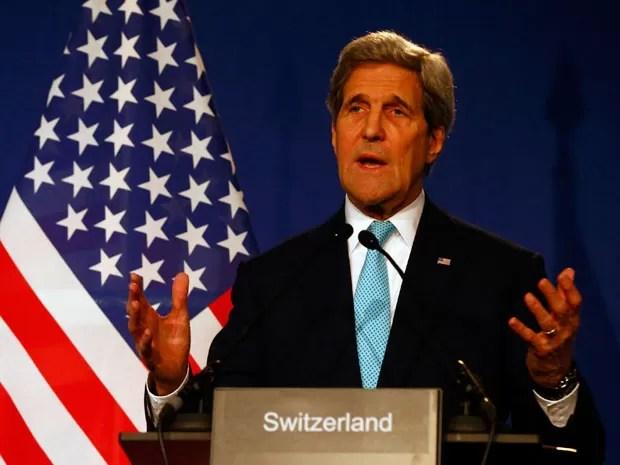 John Kerry, secretário de Estado dos Estados Unidos, faz declaração (Foto: Reuters/Ruben Sprich)