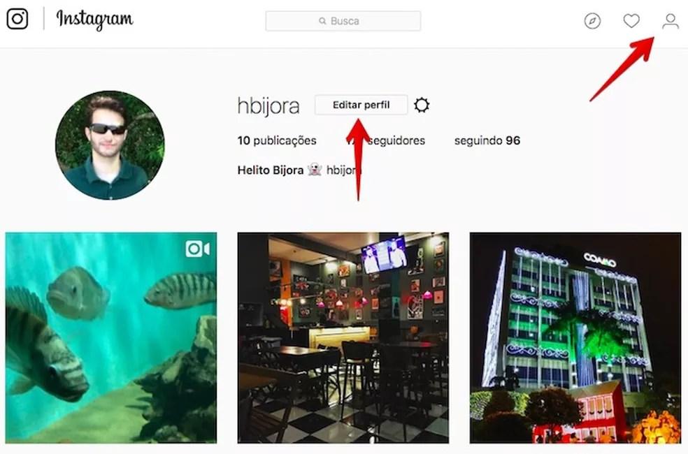 Acesse o seu perfil no Instagram — Foto: Reprodução/Helito Bijora