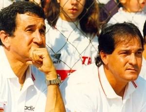 parreira treinador do são paulo muricy ramalho auxiliar (Foto: agência Gazeta Press)