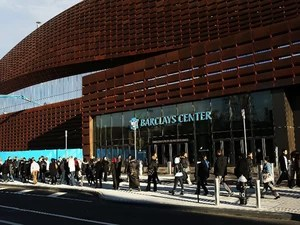 O estádio Barclay's Center, no Brooklyn (Foto: Spencer Platt/Getty Images North America /AFP)