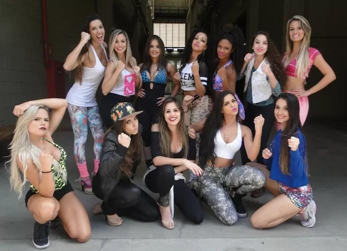 Meninas do time de Carla Prata mostram que estão prontas para a disputa (Foto: Vitor Moreno/Gshow)